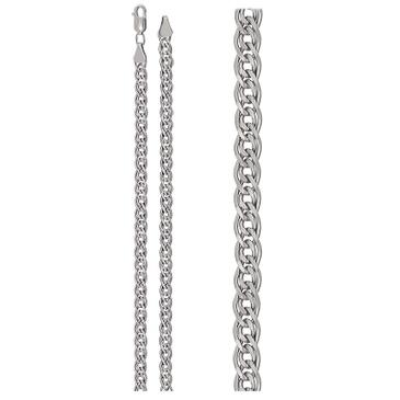 цепь плетение нонна из серебра 365710002060