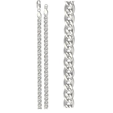 цепь плетение нонна из серебра 365810002060