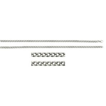 цепь плетение панцирное из серебра 365315007050
