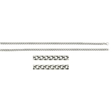 цепь плетение панцирное из серебра 365315007045