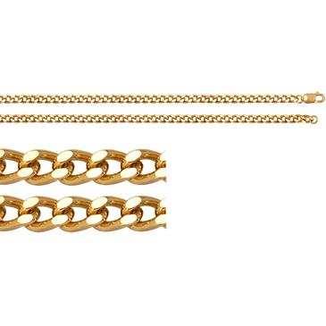 цепь плетение панцирное из серебра 365415007045