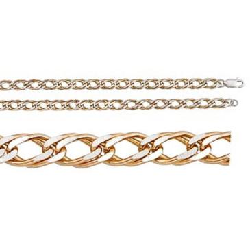цепь плетение ромбовое из серебра 365410020060-2