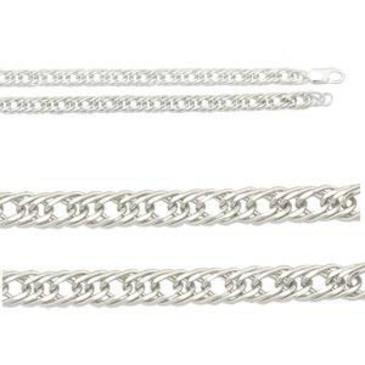 цепь плетение ромбовое из серебра 365807021055