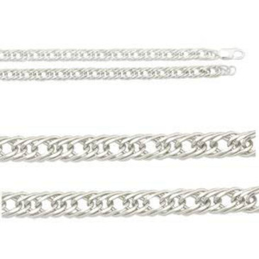 цепь плетение ромбовое из серебра 365807021060