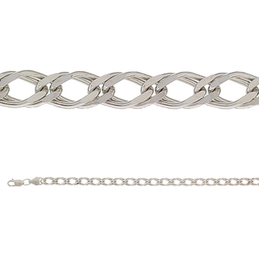 цепь плетение ромбовое из серебра 365710020040