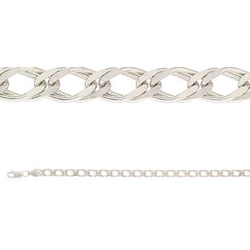 цепь плетение ромбовое из серебра 365810020065