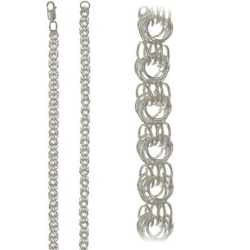 цепь плетение роза из серебра 366604584040