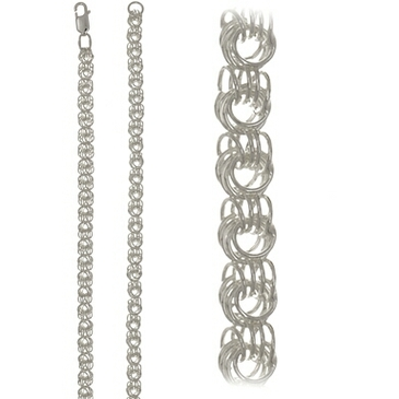 цепь плетение роза из серебра 366604584045