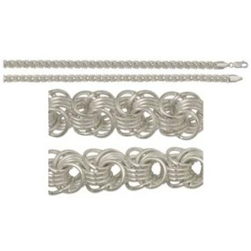 цепь плетение роза из серебра 366006082040-6