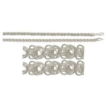 цепь плетение роза из серебра 366006082055