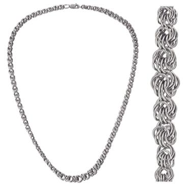 цепь плетение роза из серебра 366904584040