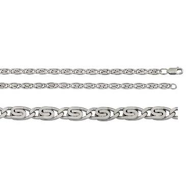 цепь плетение улитка из серебра 365710048045