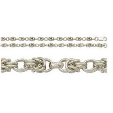 цепь плетение византия из серебра 366012091055