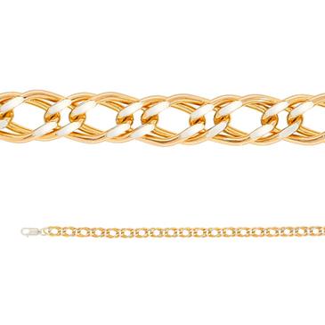 цепь с позолотой ромбовое плетение из серебра 365410020055-2