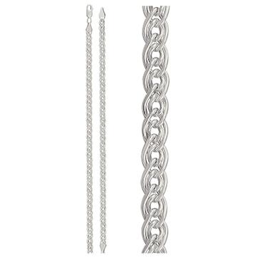 цепь шириной 6мм плетение нонна из серебра 365610002055