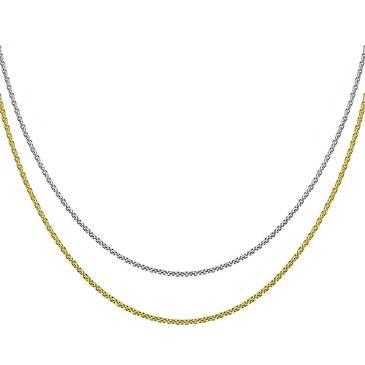 Цепочка мягкая двойная Breuning из серебра 64/01174-3C 45