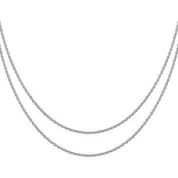 Цепочка мягкая двойная Breuning из серебра 64/01174-3S 45