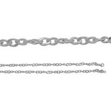 цепь c фианитом плетение якорное из серебра 365615006050