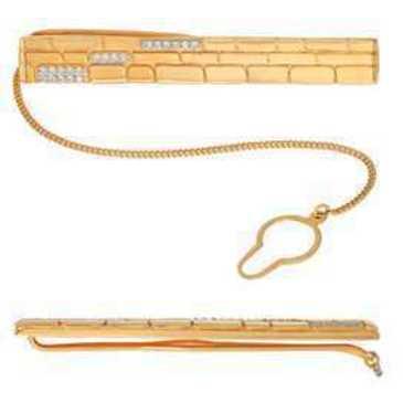 зажим для галстука c фианитами из красного золота 51023271 от EVORA