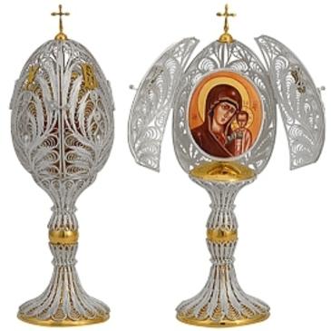 сувенир яйцо c финифтью из серебра 3574051697