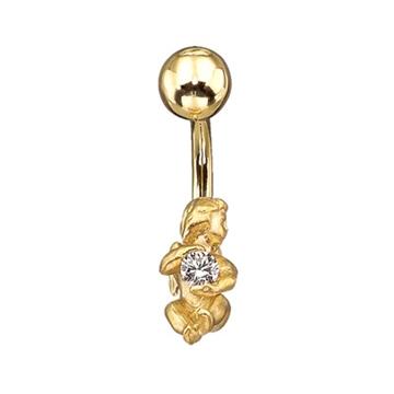 Пирсинг 'АНГЕЛ' из желтого золота Пр-41001 от EVORA