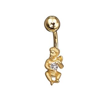 Пирсинг 'АНГЕЛ' из желтого золота Пр-41002 от EVORA