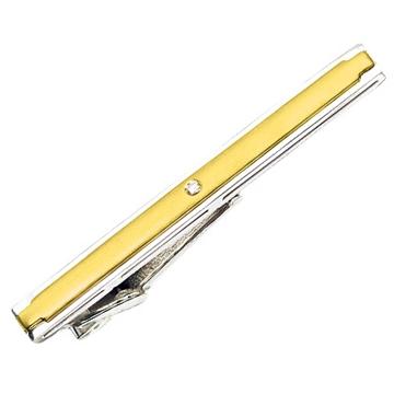 Зажим 'ГРАНД' с бриллиантом из желтого золота З-34003 от EVORA