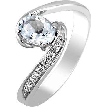 Кольцо Comete из белого золота ANQ 271