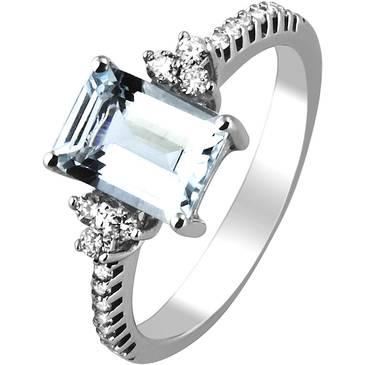 Кольцо Comete из белого золота ANQ 269 от EVORA