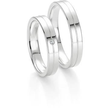 Кольцо Breuning из белого золота 48/04028