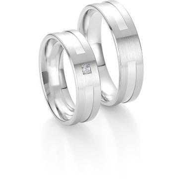 Кольцо Breuning из белого золота 48/04134