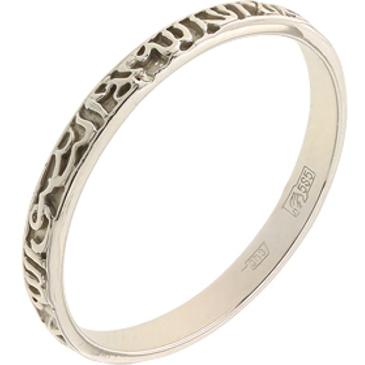 кольцо из белого золота 1406100484