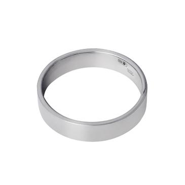 кольцо обручальное из белого золота 13003793
