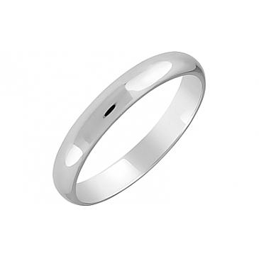 Кольцо обручальное из белого золота 123514