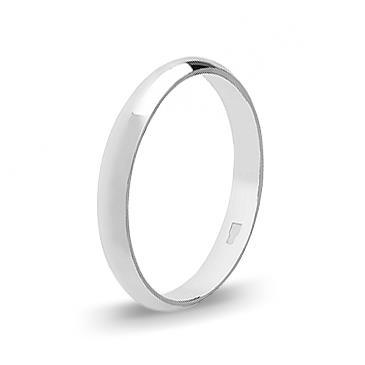 Кольцо обручальное из белого золота 30421