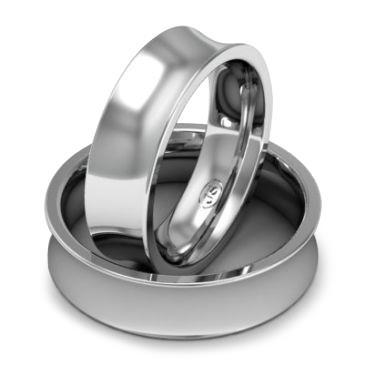 Кольцо обручальное классическое 750 пробы шириной 6 мм. из белого золота W867W