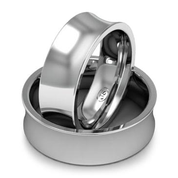 Кольцо обручальное классическое 750 пробы шириной 7 мм. из белого золота W877W