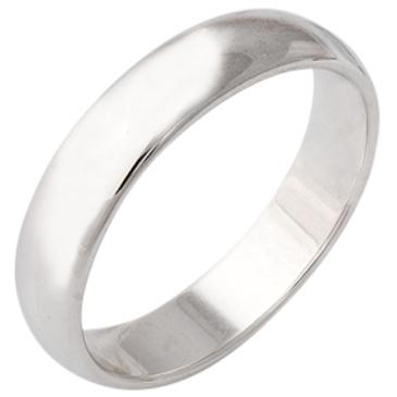 кольцо обручальное классическое из белого золота 1406108039
