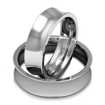 Кольцо обручальное классическое шириной 6 мм. из белого золота W865W