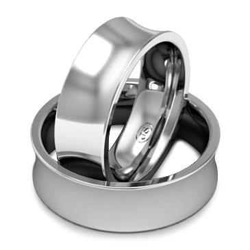 Кольцо обручальное классическое шириной 7 мм. из белого золота W875W