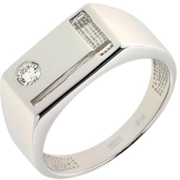 кольца c бриллиантом из белого золота 13037692