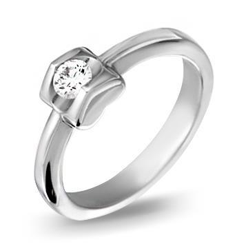 Кольцо  с бриллиантами из белого золота R10722WG