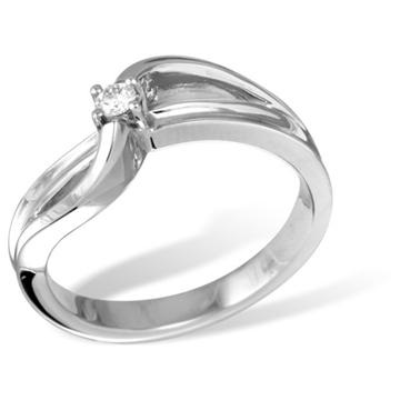 Кольцо  с бриллиантами из белого золота R121030WG