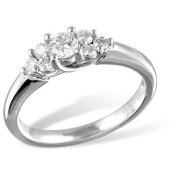 Кольцо  с бриллиантами из белого золота R12289WG