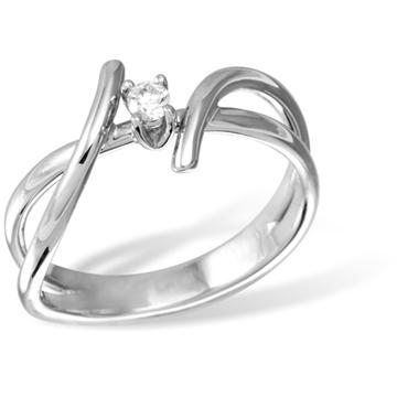 Кольцо  с бриллиантами из белого золота R12993WG