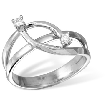 Кольцо  с бриллиантами из белого золота R12996WG