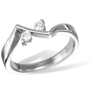 Кольцо  с бриллиантами из белого золота R4780WG