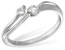 Кольцо  с бриллиантами из белого золота R6422WG