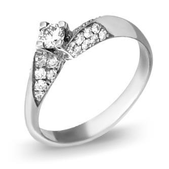 Кольцо  с бриллиантами из белого золота R773WG