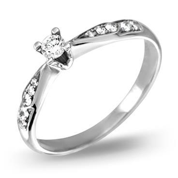 Кольцо  с бриллиантами из белого золота R867WG